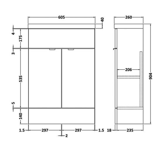 Technical drawing QS-V98011 / CBI106