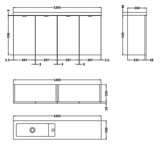 Technical drawing QS-V98012 / CBI235