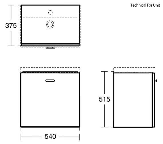 Technical drawing QS-V89405 / E0313WG