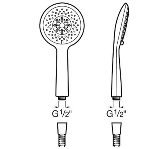Technical drawing QS-V91223 / 5B9107C00