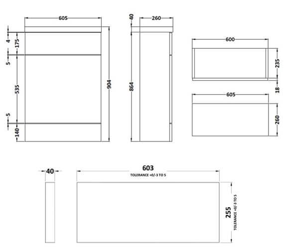 Technical drawing QS-V90324 / CBI319
