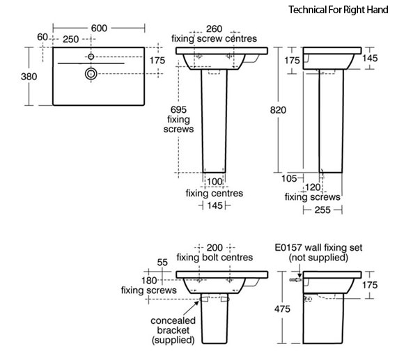 Technical drawing QS-V89408 / E0314WG