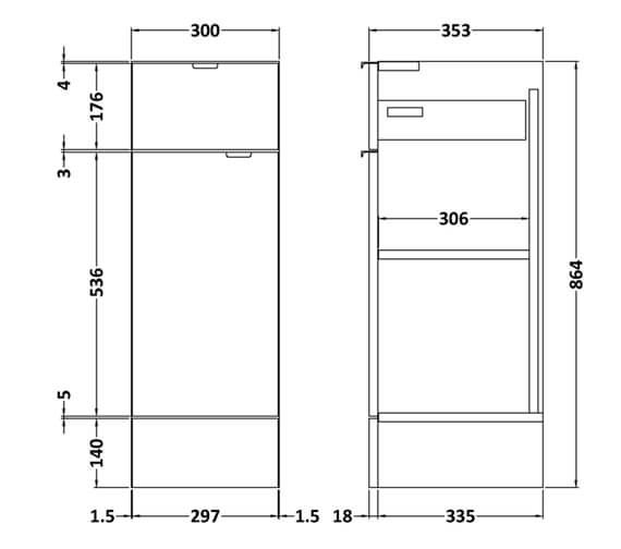 Technical drawing QS-V95082 / OFF122