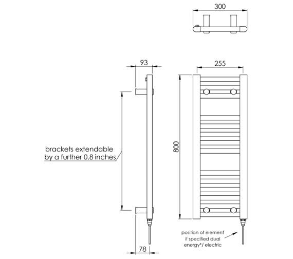 Technical drawing QS-V88520 / MD001 MS0800300WH