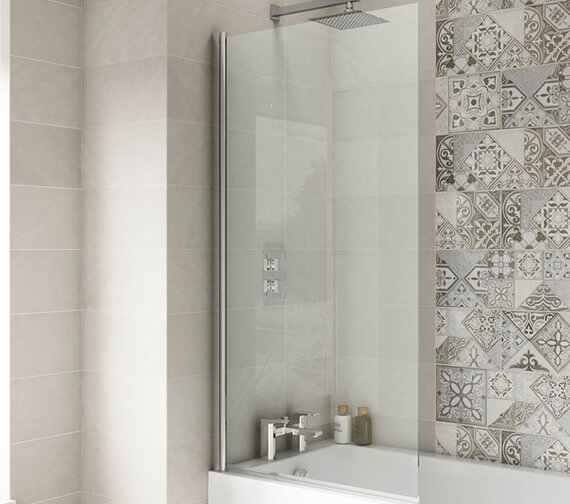 Alternate image of Hudson Reed 1435mm High Straight Bath Screen