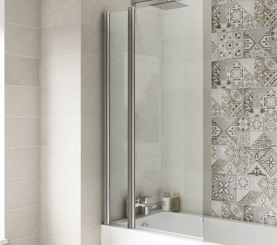 Alternate image of Hudson Reed 1435mm High Square Bath Screen