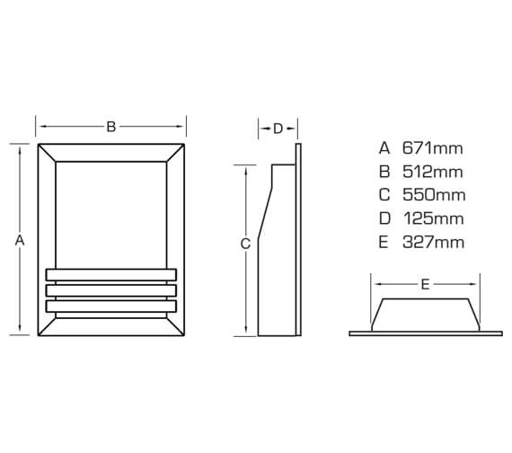 Technical drawing QS-V90882 / FSPCHWMN