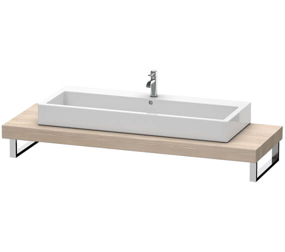 Additional image of Duravit Fogo 800 x 550mm White Matt Console For Countertop Basin