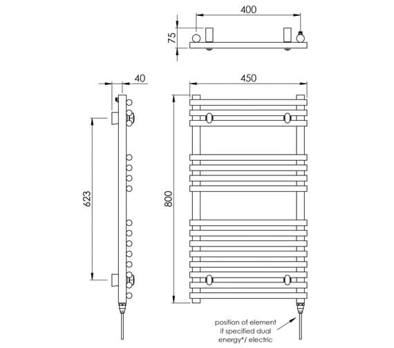 Technical drawing QS-V88534 / MD034 SS0800450PS