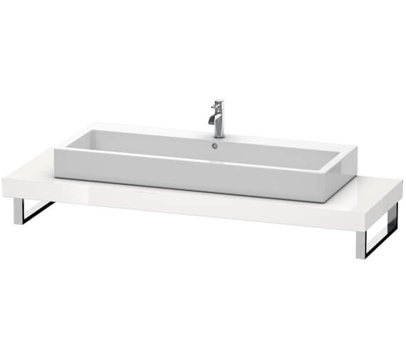 Duravit Fogo 800 x 550mm White High Gloss Console For Countertop Basin