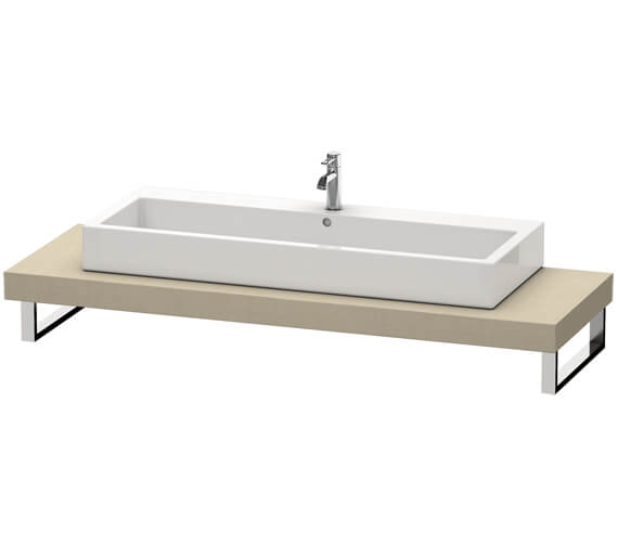 Additional image of Duravit Fogo 800 x 550mm White High Gloss Console For Countertop Basin