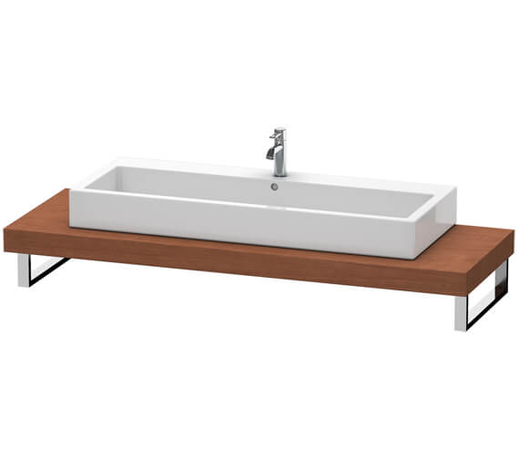 Additional image of Duravit Fogo 800 x 550mm Oak Cashmere Console For Countertop Basin