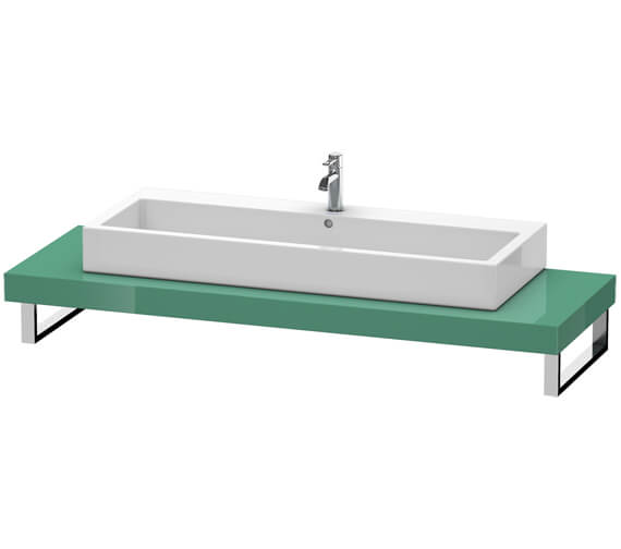 Duravit Fogo 800 x 550mm Jade High Gloss Console For Countertop Basin
