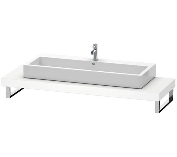 Duravit Fogo 800 x 550mm White Matt Console With 1 Cut Out For Countertop Basin