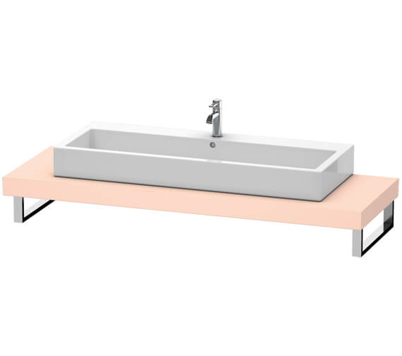 Additional image of Duravit Fogo 800 x 550mm Jade High Gloss Console For Countertop Basin