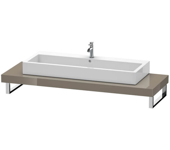 Alternate image of Duravit Fogo 800 x 550mm Jade High Gloss Console For Countertop Basin