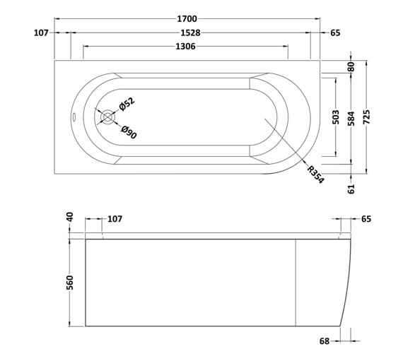 Technical drawing QS-V4855 / BSG007L