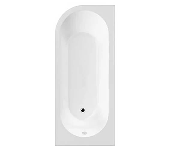 Additional image of Hudson Reed Dahlia 1700 x 725mm Back to Wall Corner Bath With Panel