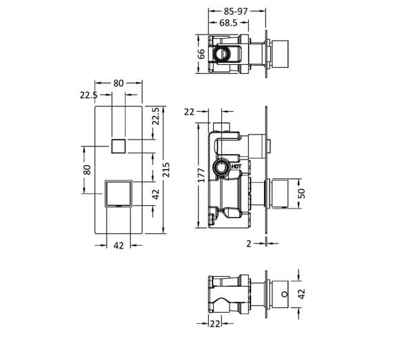 Technical drawing QS-V98024 / CPB3310