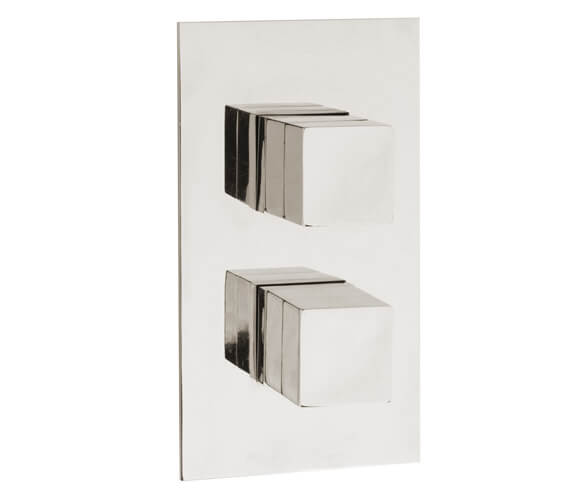 Hudson Reed Lennox Square Twin Concealed Thermostatic Shower Valve