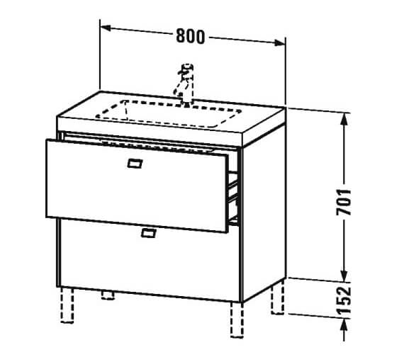 Technical drawing QS-V95842 / BR4700O1818