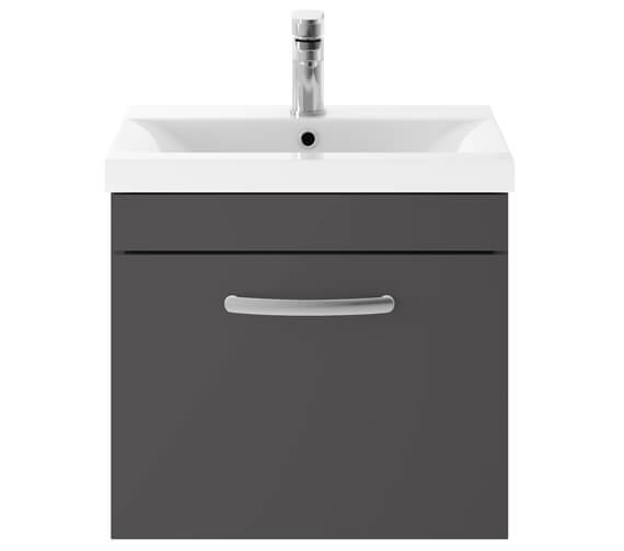 Alternate image of Premier Athena 500mm Single Drawer Wall Hung Cabinet With Basin 1 Gloss White Finish