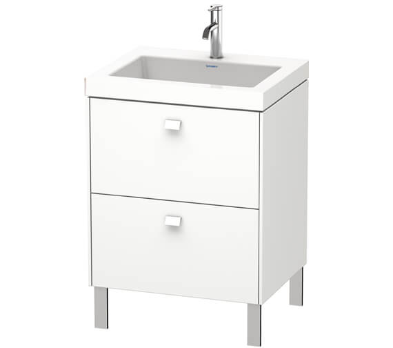 Duravit Brioso Floor Standing 2 Drawer Vanity Unit With C-Bonded Basin
