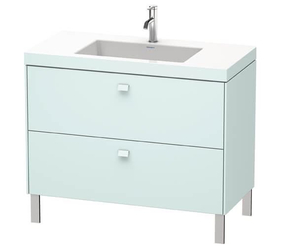 Additional image of Duravit Brioso Floor Standing 1000mm 2 Drawer Vanity Unit With C-Bonded Basin