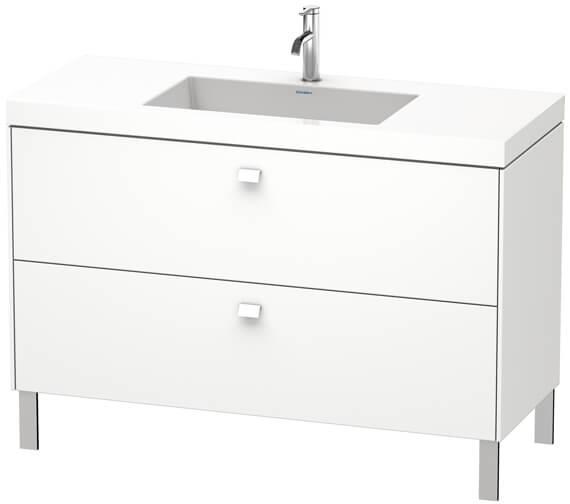 Duravit Brioso Floor Standing 1200mm 2 Drawer Vanity Unit With C-Bonded Basin