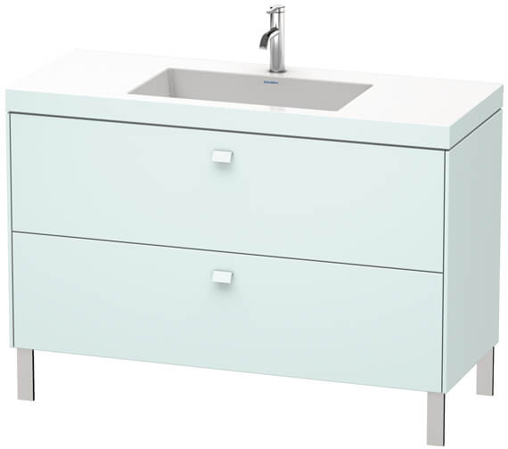 Additional image of Duravit Brioso Floor Standing 1200mm 2 Drawer Vanity Unit With C-Bonded Basin