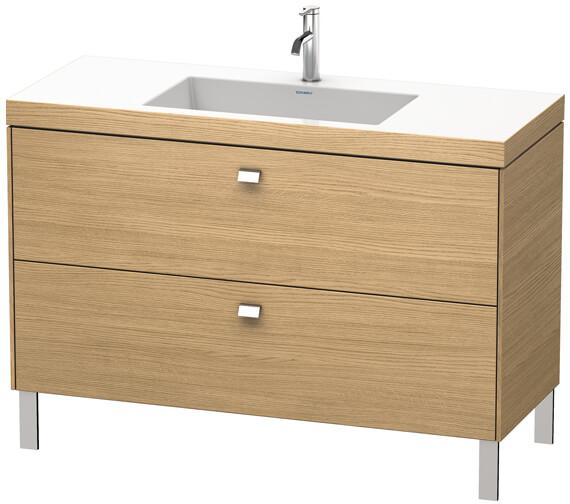 Alternate image of Duravit Brioso Floor Standing 1200mm 2 Drawer Vanity Unit With C-Bonded Basin