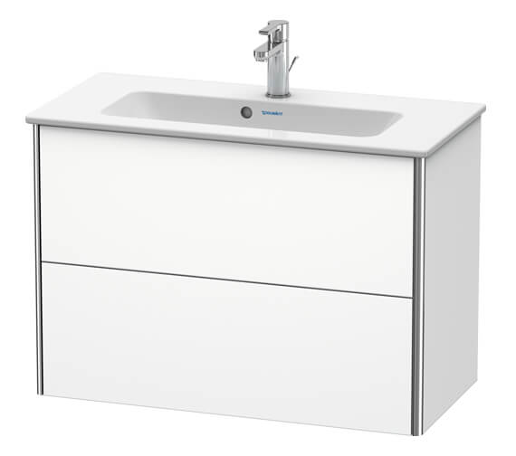 Duravit XSquare Compact 2-Drawer Wall-Hung Vanity Unit For ME By Starck Basin