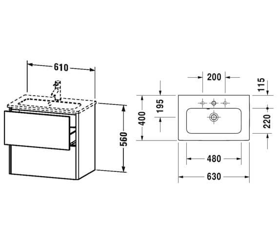 Technical drawing QS-V99612 / XS416501818