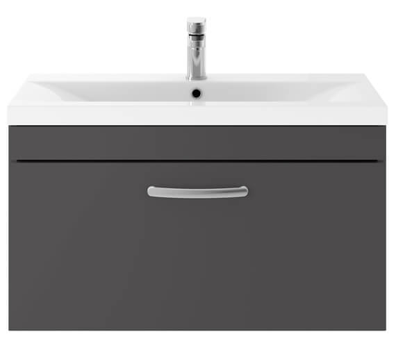 Alternate image of Premier Athena 800mm 1 Drawer Wall Hung Cabinet With Basin 1 Gloss White Finish