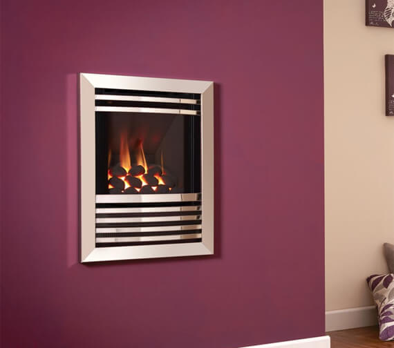 Flavel Expression HE Hole In The Wall Glass Fronted Gas Fire