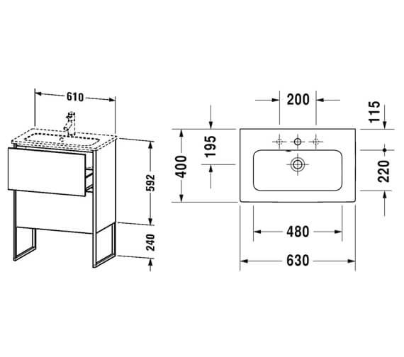 Technical drawing QS-V99613 / XS445401818
