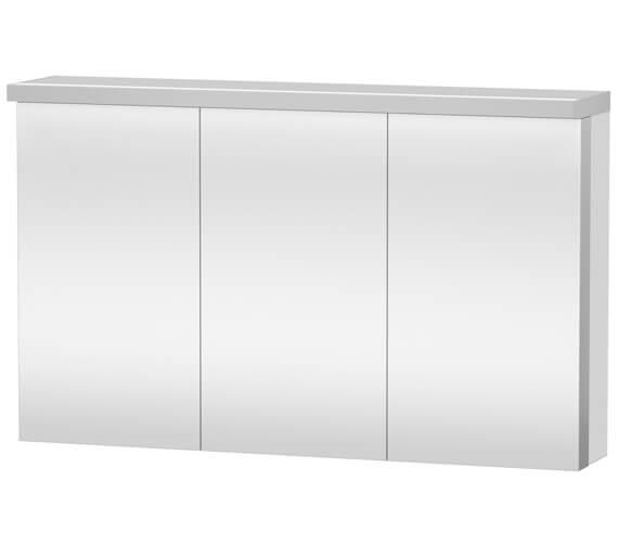 Duravit Fogo 1200 x 740mm 3 Door White Matt Mirror Cabinet