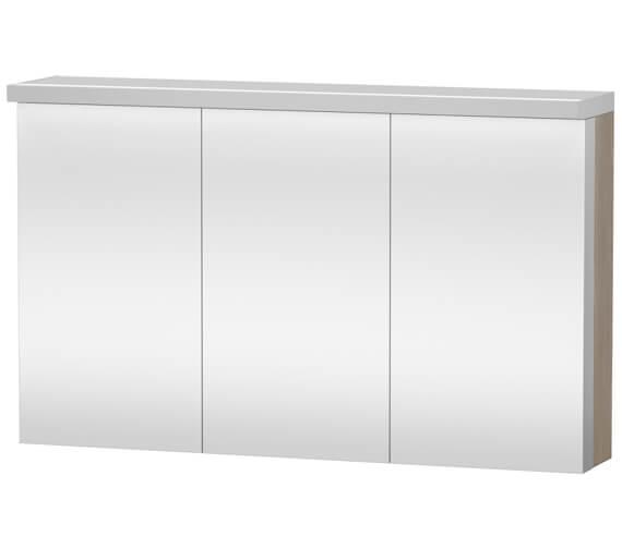 Additional image of Duravit Fogo 1200 x 740mm 3 Door White Matt Mirror Cabinet