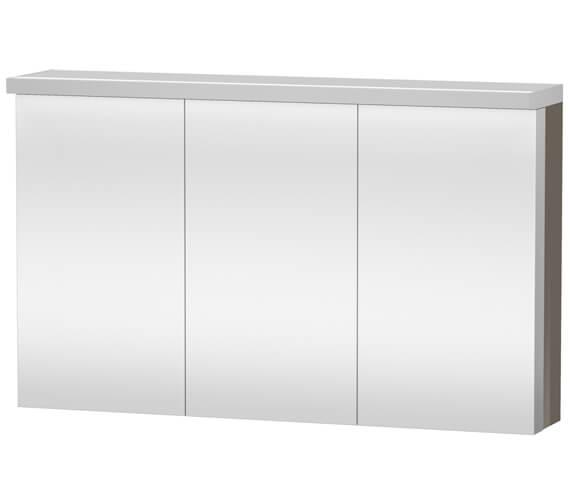 Alternate image of Duravit Fogo 1200 x 740mm 3 Door White Matt Mirror Cabinet