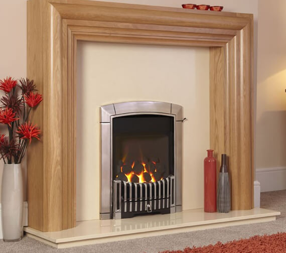 Flavel Caress HE Contemporary Glass Fronted Inset Gas Fire