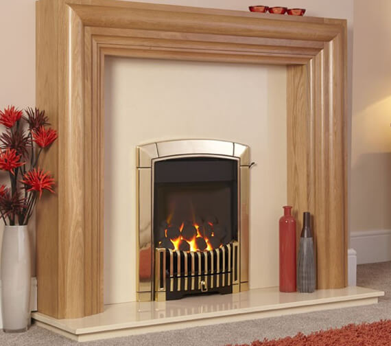 Additional image of Flavel Caress HE Contemporary Glass Fronted Inset Gas Fire