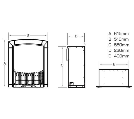 Technical drawing QS-V39715 / FHEC11MN