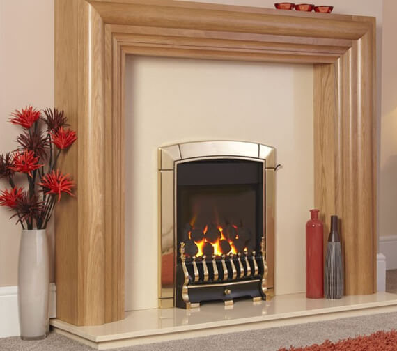 Additional image of Flavel Caress HE Traditional Glass Fronted Inset Gas Fire