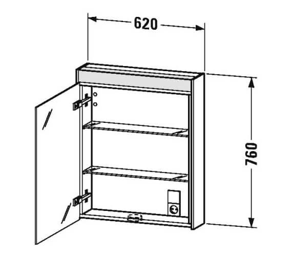 Technical drawing QS-V95848 / BR7101L1818