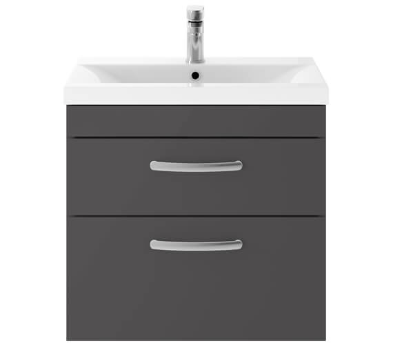 Alternate image of Premier Athena 600mm 2 Drawer Wall Hung Cabinet With Basin 1
