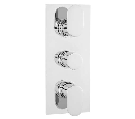Hudson Reed Reign Rectangle Triple Thermostatic Concealed Shower Valve