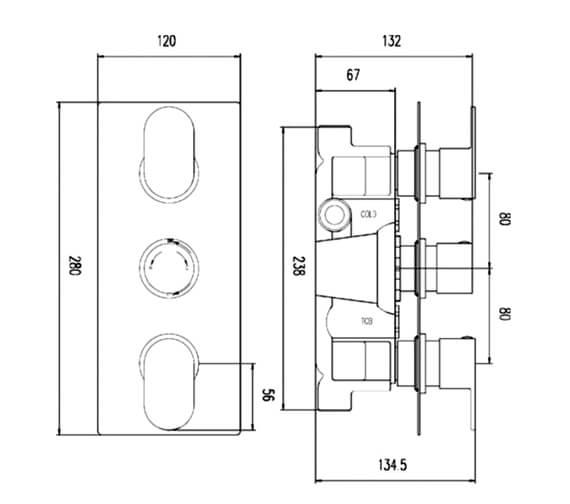 Technical drawing QS-V90228 / REI3611