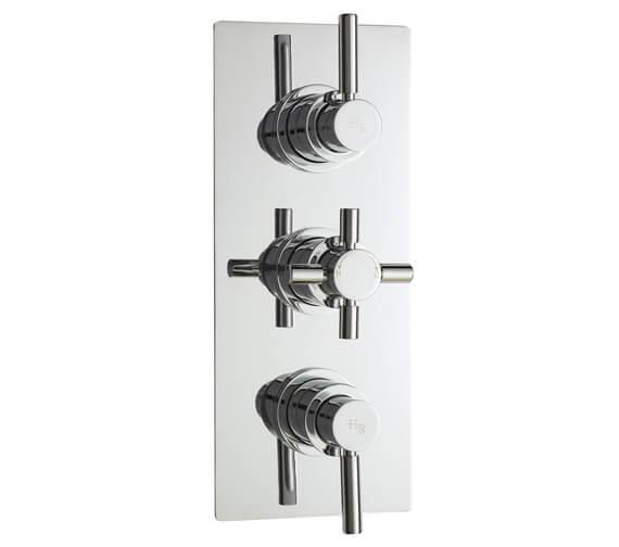 Hudson Reed Tec Pura Plus Triple Concealed Thermostatic Shower Valve