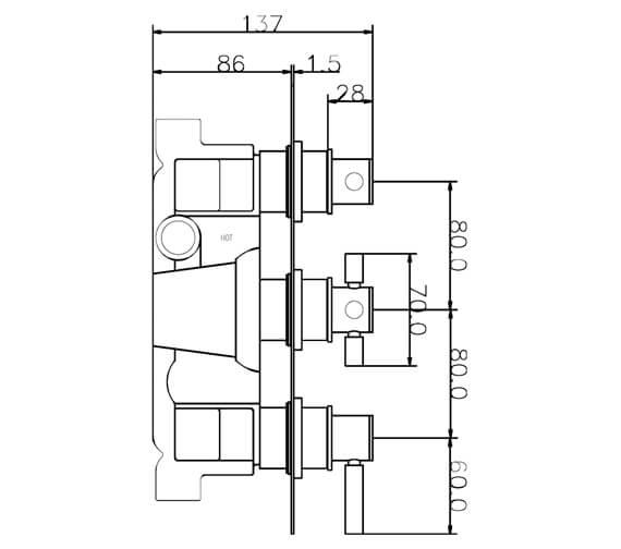 Technical drawing QS-V58427 / A3003