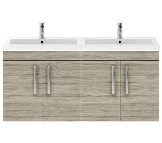 Additional image of Premier Athena 1200mm Wall Hung 4 Door Cabinet With Double Basin